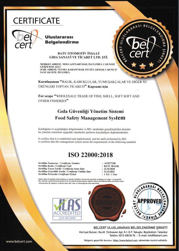 Gıda Güvenliği Yönetim Sistemi